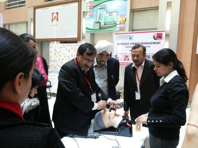 AMF-Airway Workshop on March 02, 2014 at S.P.S. Appollo Hospital, Ludhiana, Punjab